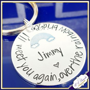 Pet Memorial Keychain - Rainbow Bridge Gift - Dog Memorial - Rainbow Bridge Keychain - Pet Memorial Keyring - In Memory Of Pet - Pet Loss