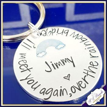 Pet Memorial Keychain - Rainbow Bridge Gift - Dog Memorial - Rainbow Bridge Keychain - Pet Memorial Keyring - In Memory Of Pet - Pet Loss