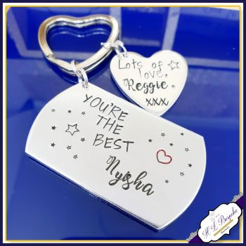 Personalised Childminder Gift - Teacher Keyring - Gift For Teaching Assistant - You're The Best Gift - Teacher Gift - End of Year Gift