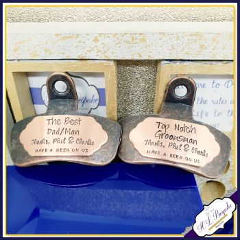 Best Man Gift - Personalised Bottle Opener - Custom Wall Mounted Bottle Opener - Father of the Groom Gift - Bar Cap Remove - Dad Gift