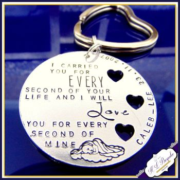Child Loss Keyring - I Carried You For Every Second Of Your Life & I Will Love You For All Of Mine, Angel Baby, Baby Loss Gift, Keyring