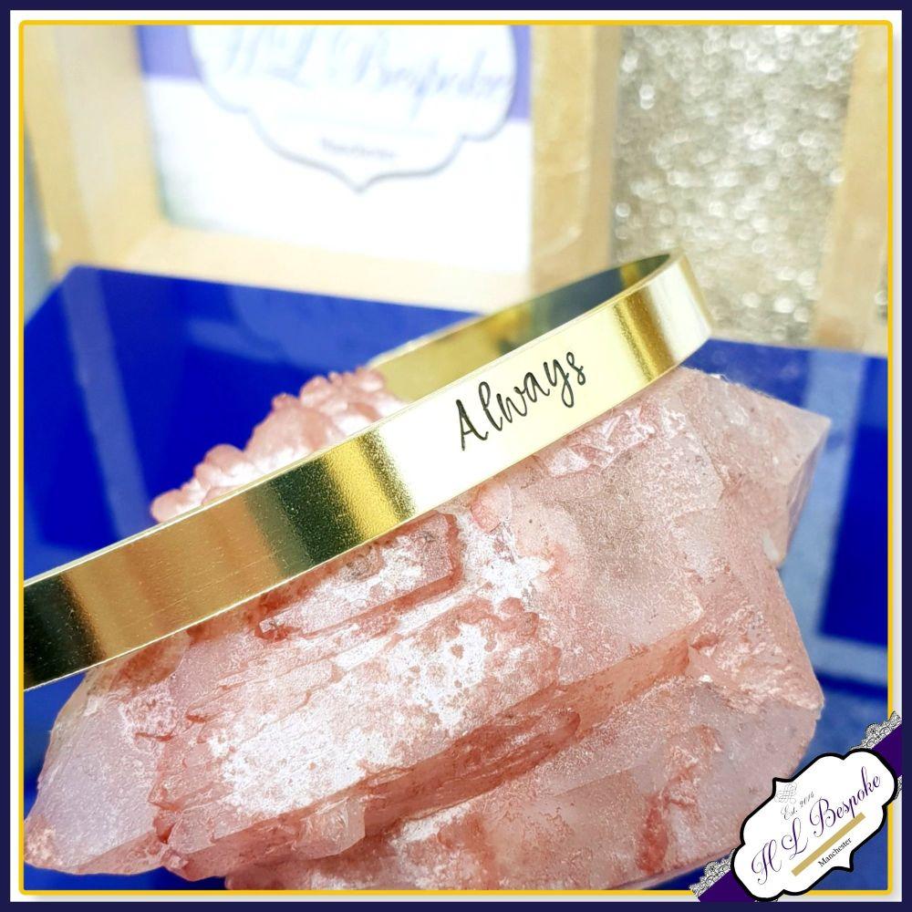 Custom Single Word Cuff Bracelet - Copper Cuff - Brass Cuff - Personalised