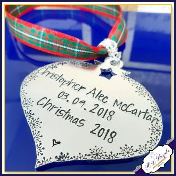 Personalised Baby's 1st Christmas Decoration - New Baby Tree Ornament - New Baby Christmas Gift - Christmas Decoration - Baby 1st Christmas