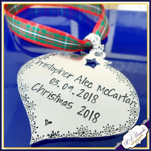 Personalised Baby S 1st Christmas Decoration New Baby Tree