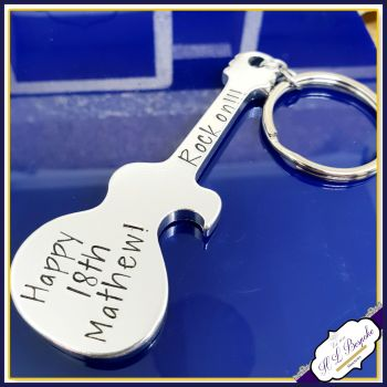 Personalised 18th Birthday Bottle Opener - Personalised Guitar Bottle Opener - Turning 18 Gifts - 18th Drinker Gift Bottle Opener - You Rock