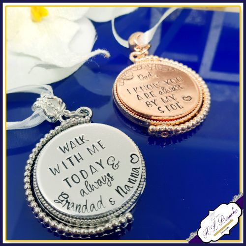 Personalised Rotating Photo Bouquet Charm - Memorial Bouquet Charm - Bridal