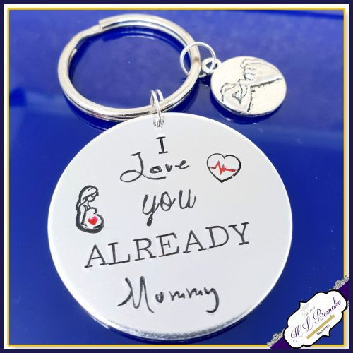 Pregnant Mothers Day Gift - Mothers Day Keyring - I Love You Already - From