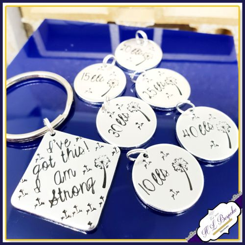 Weight Loss Tracker Keyring Bundle - Weight Loss Journey - Weight Loss Keyr