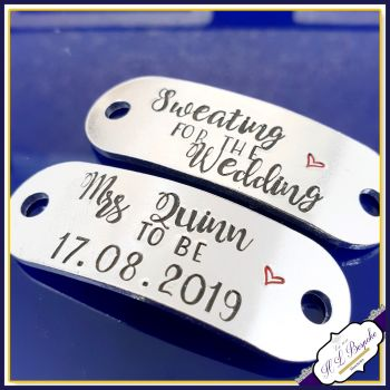 Personalised Sweating For The Wedding Trainer Tags - Bride Gym Gift - Bride To Be Gift - Engagement Gift - Bride Gift - Wedding Diet