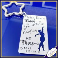 Personalised Dance Teacher Keyring - Thank You Dance Teacher Gift - Thank You For Helping Me Shine - Dance Teacher Gift - Dancing Gift