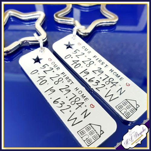 Personalised First Home Keyrings - Our First Home Gift - First Home Gift -