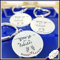 Personalised You're My Lobster Keyrings - Couples Keychain - Lobster Gift - Lobster Anniversary Gifts - Soulmate Gift - You And Me Gift