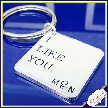 I Like You Keyring  - Small Valentines Gift - Small Valentines Keyring - Gift For New Relationship - I Like You Keychain - Valentines Day