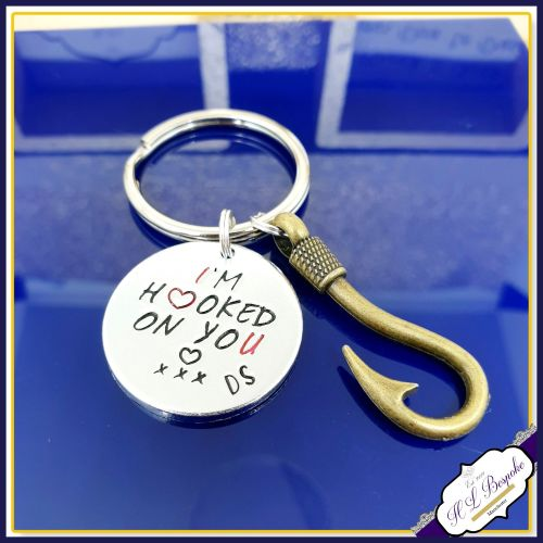 Hooked On You Keyring - Fisherman Keyring - Hooked On You Keychain - Valent