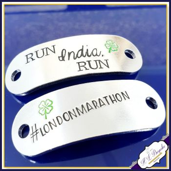 Marathon Trainer Tags - Marathon Gift - 26.2 Gift - Jogger Trainer Tags - Runner Gift - Fitness Lace Plate - Marathon Des Sables - Boston