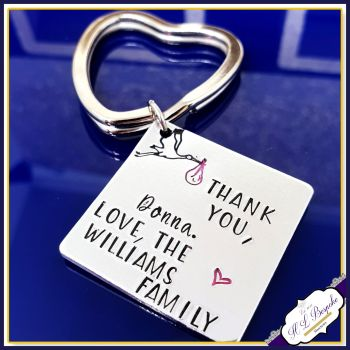 Personalised Midwife Gift - Midwife Keyring - Gift For Midwife - Number 1 Midwife - Midwife Thank You  - Deliverying Miracle - Doula Gift