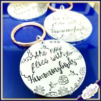 Personalised Memorial Keychain - Hummigbird Bereavement Keyring - Hummingbird Gift - In Memory Of Gift - In Memory Of Keyring