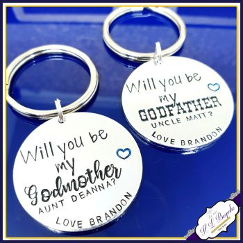 Personalised Will You Be My Godmother Gift - Godparent Proposal Keyring - Be My Godmother - Asking A Godparent Gift - Guidance Blessing Gift