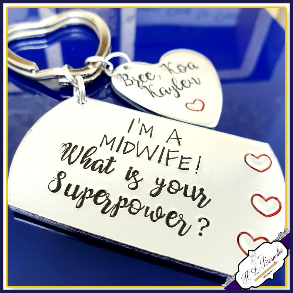 Personalised Midwife Gift - Midwife Keyring - Gift For Midwife - What's You