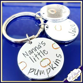 This Nanna Belongs To Keyring - Nanna's Little Pumpkins Gift - Grandma Keyring - Pumpkin Gift - Mother's Day Keyring - Gift For Nanna - Mum