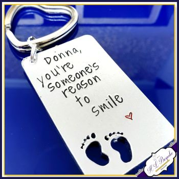 Personalised Midwife Gift - Thank You Midwife Keyring - Someone's Reason To Smile Gift - Gift For Midwife - Thank You Midwife Doua Gift