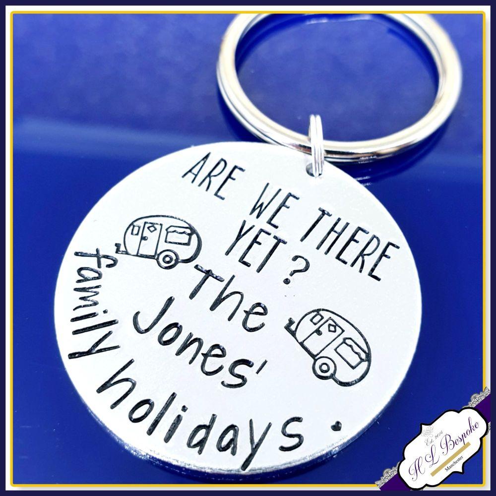 Personalised Caravan Keyring - Are We There Yet Keychain - Caravan Holiday