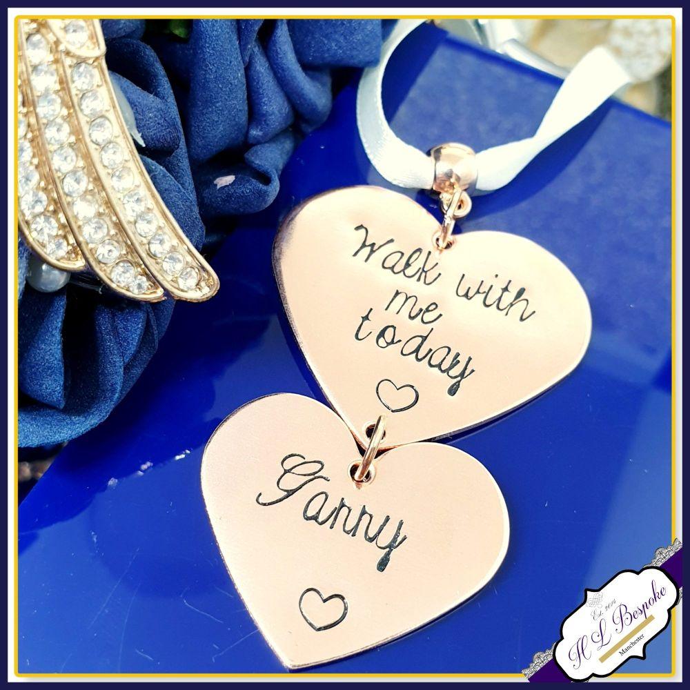 Copper Bridal Bouquet Charm - Rose Gold Wedding Bouquet Charm - Wedding Bou