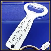 Caps Off To The Best Godfather Gift - Godfather Bottle Opener - Godfather Keychain - Godfather Gift - Godfather Bottle Opener - Caps Off