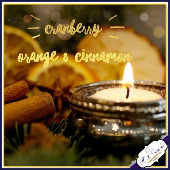 Cranberry Orange & Cinnamon Soya Wax Melts - Highly Scented Wax Tarts - Fruity Wax Melts - Vegan Friendly - Eco Friendly Melts