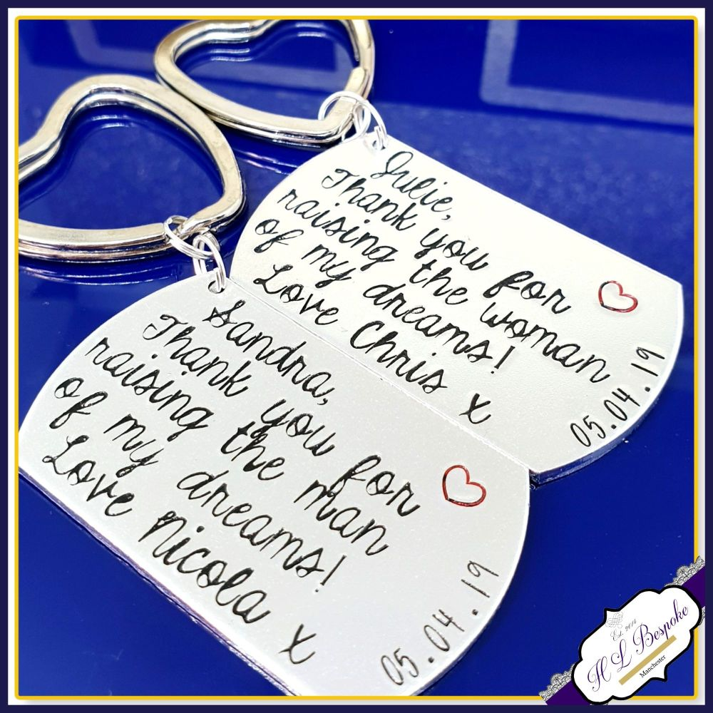 Thank You For Raising Your Son To Be The Man OF My Dreams Keyring - Persona