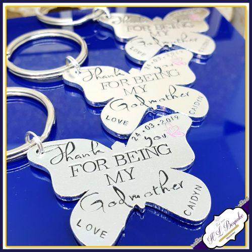 Personalised Godmother Gift - Godmother Keyring - Godmother Keychain - Than