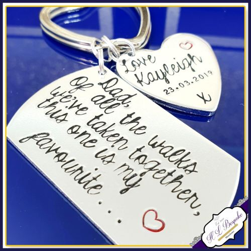 Of All The Walks We Have Taken Keyring - Father Of The Bride Gift - Persona
