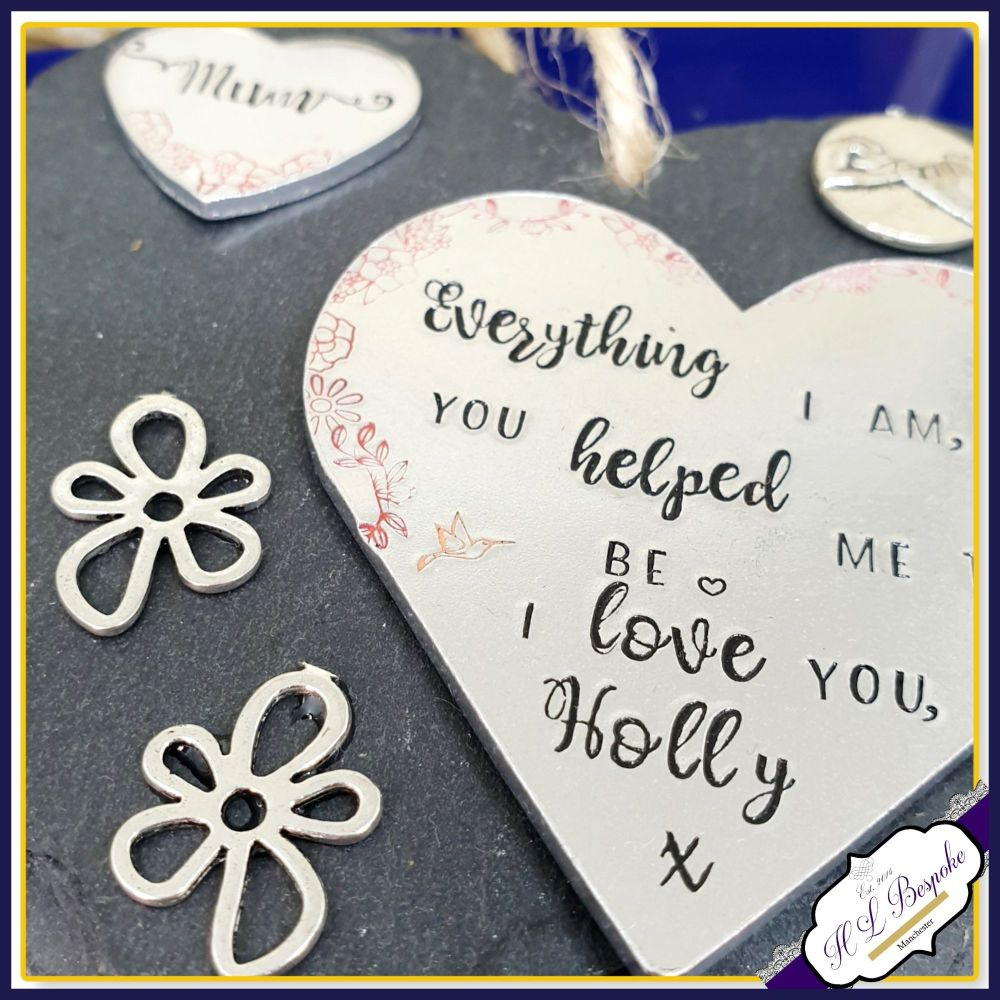 Personalised Mum Plaque - Mother's Day Gift for Mum - Slate Plaque For Mum