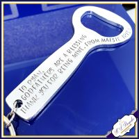 Personalised Godfather Gift - Godfathers Are A Blessing Keyring - Godfather Keychain - Thank You For Being My Godfather - Godfather Bottle Opener