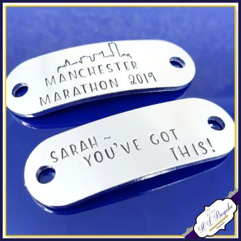 Pair Manchester Marathon Trainer Tags - Manchester Marathon Gift - Personalised Trainer Tags - You've Got This Trainer Tags - Marathon Gift