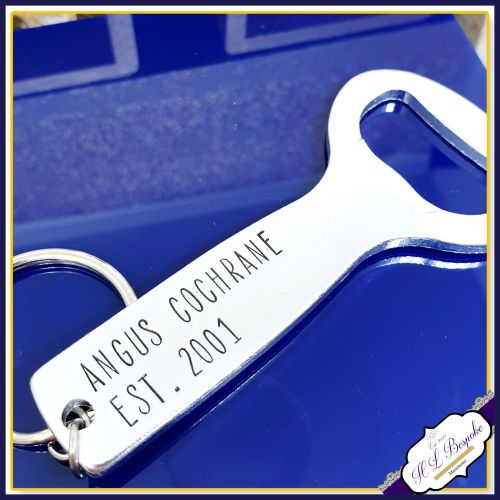 Personalised 18th Birthday Gift - Personalised Bottle Opener - You Choose W