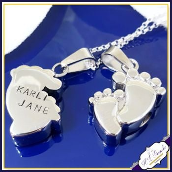 Baby Cremation Urn Jewellery - Baby Loss Necklace - In Memory Of Jewellery - Baby Urn Jewellery - Personalised Baby Feet Urn Pendant
