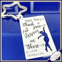 Personalised Dance Teacher Keyring - Thank You Dance Teacher Gift - Thank You For Helping Me Shine - Dance Teacher Gift - Dancing Gift