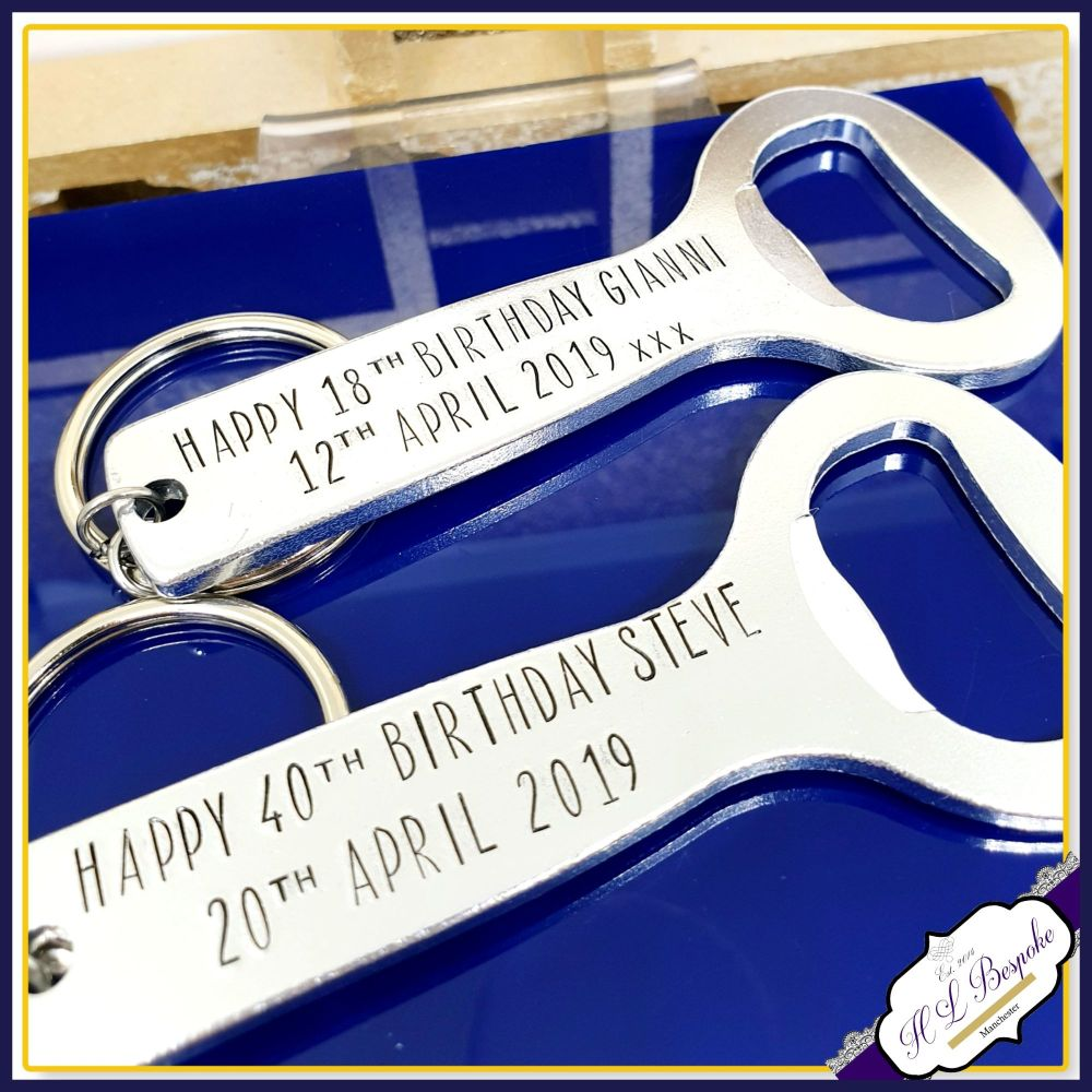 Personalised Birthday Bottle Opener - Personalised 40th Birthday Gifts For