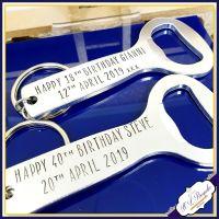 Personalised Birthday Bottle Opener - Personalised 40th Birthday Gifts For Men - 40th Birthday Gift - You Choose Wording