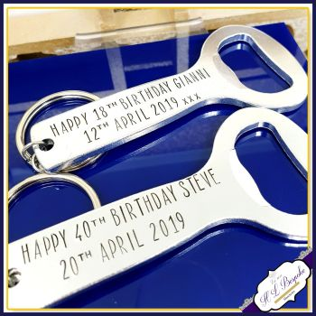 Personalised Birthday Bottle Opener - Personalised 40th Birthday Gifts For Men - 40th Birthday Gift - You Choose Wording