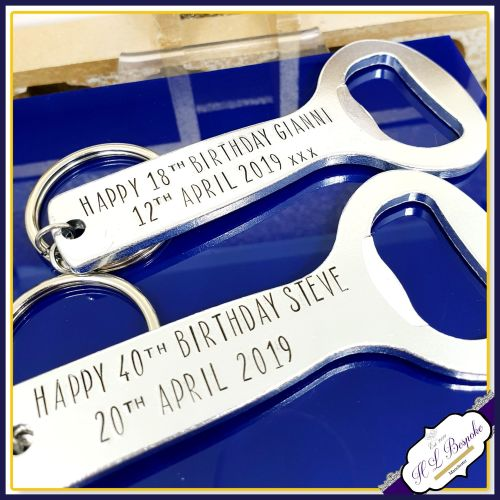 Personalised Birthday Bottle Opener