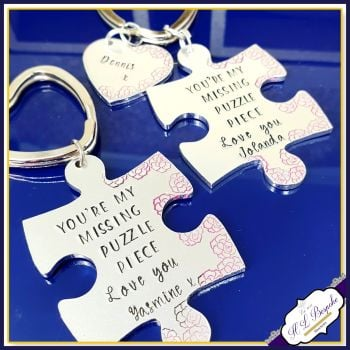 Personalised Missing Piece Keyring - Puzzle Piece Keyring - Girlfriend You're My Missing Piece - Valentine's Gift  - Gift for Girlfriend