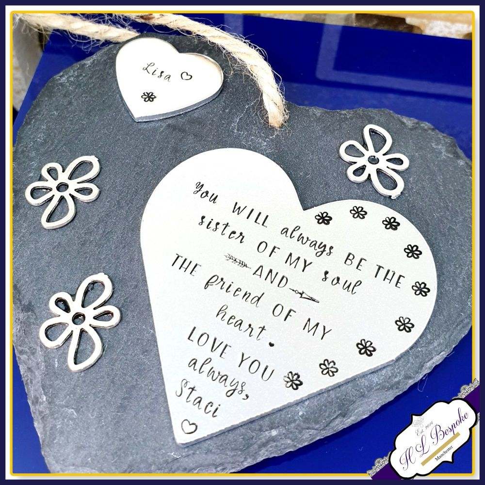 Personalised Sister Plaque - Gift for Sister - Sister Best Friend Gift - Fr