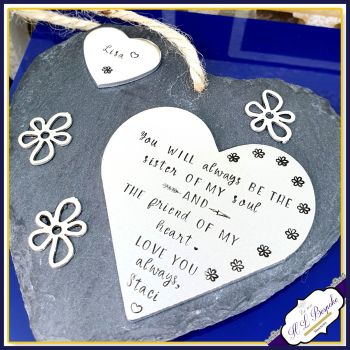 Personalised Sister Plaque - Gift for Sister - Sister Best Friend Gift - Friendship Plaque - Gift for Sister -  Plaque for Best Friend