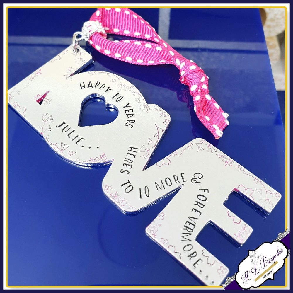 Personalised Wedding Anniversary Gift - 10th Anniversary Gift - Tin Anniver