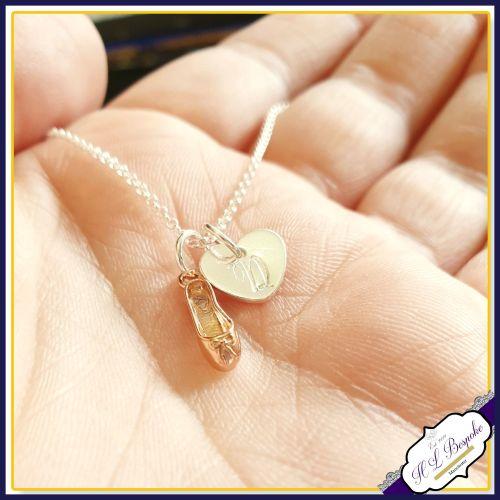 Personalised Ballet Dancer Shoe Necklace - Pendant Gift For Ballet Dancer -