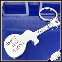 Personalised 18th Birthday Bottle Opener - Personalised Guitar Bottle Opener - Turning 18 Gifts - 18th Drinker Gift Bottle Opener - You Rock
