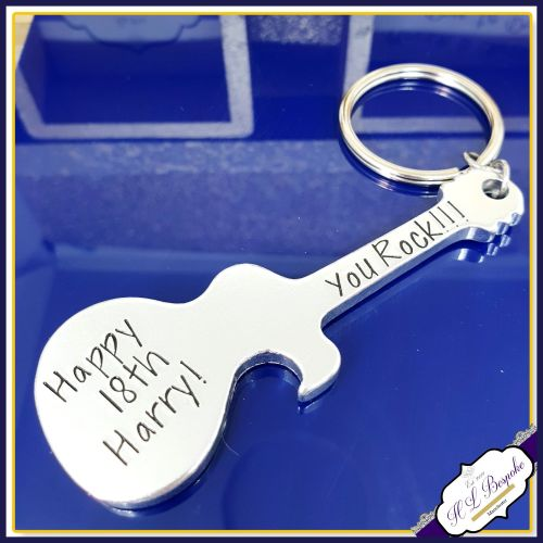 Personalised 18th Birthday Bottle Opener - Personalised Guitar Bottle Opene