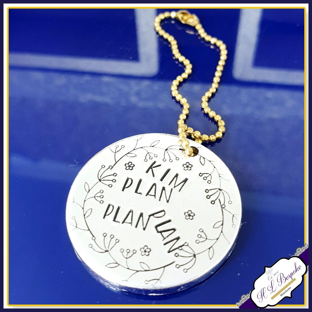 Personalised Flower Planner Charm - Planner Charm With Name - Planner Flowe